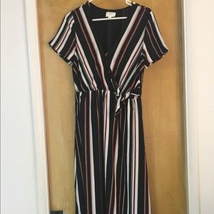 Stripe Maxi dress with sleeves
